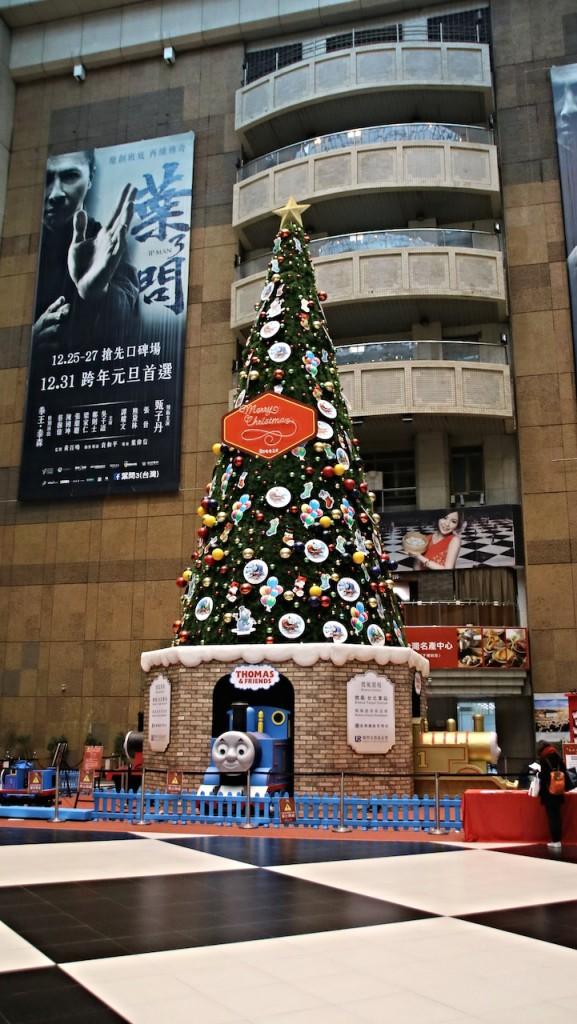 台北駅のクリスマスツリー
