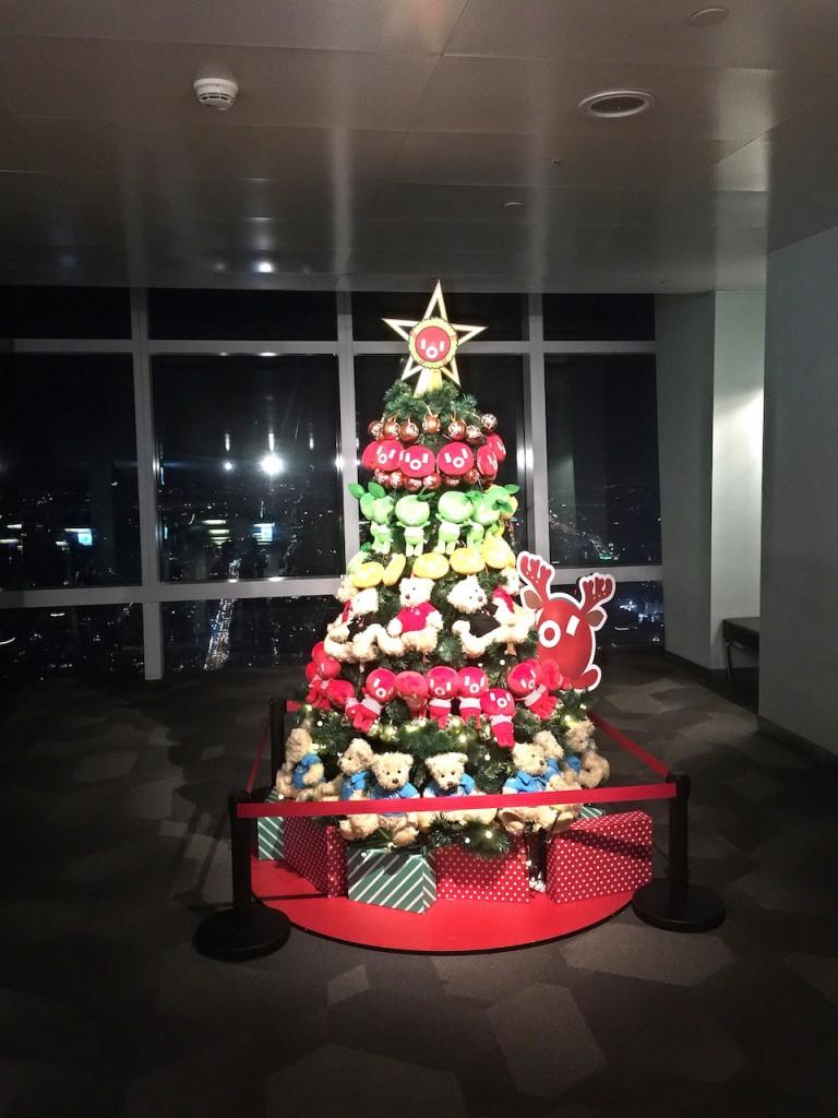 台北101展望台にあるクリスマスツリー