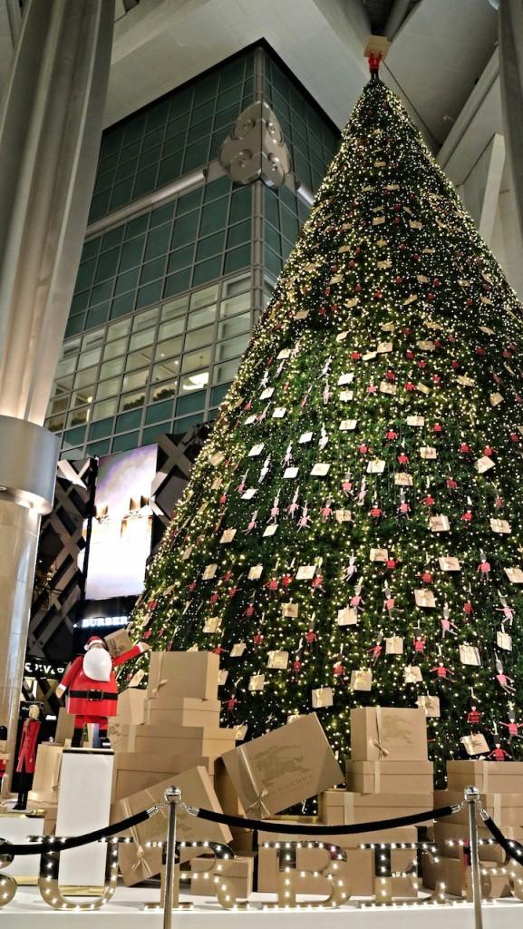 台北101ショッピングセンター内のクリスマスツリー